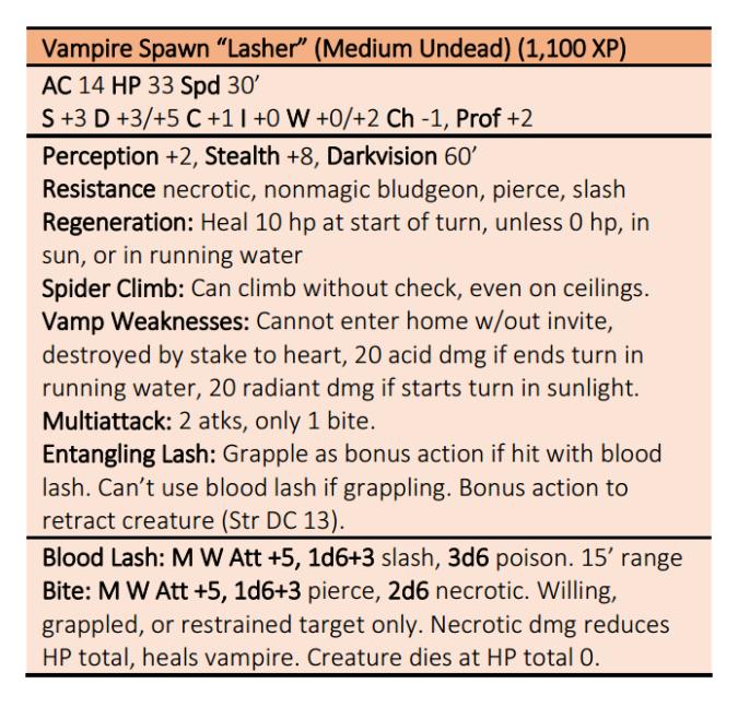 Vampire Lasher S