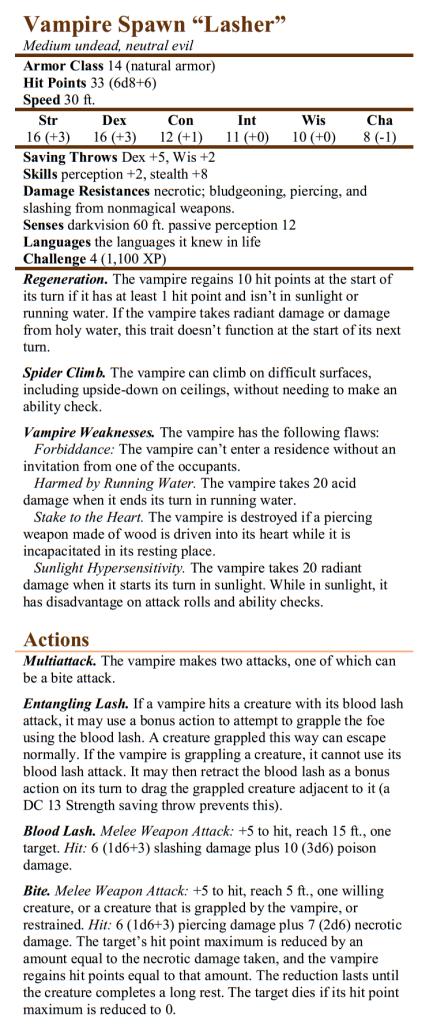 Vampire Lasher
