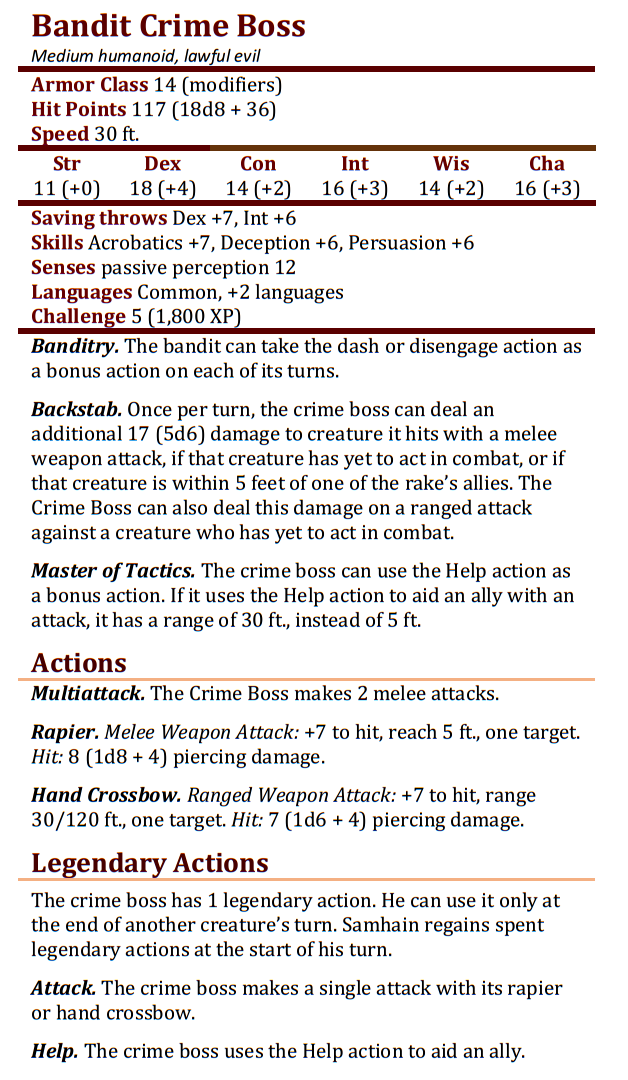 Bandit Crime Boss
