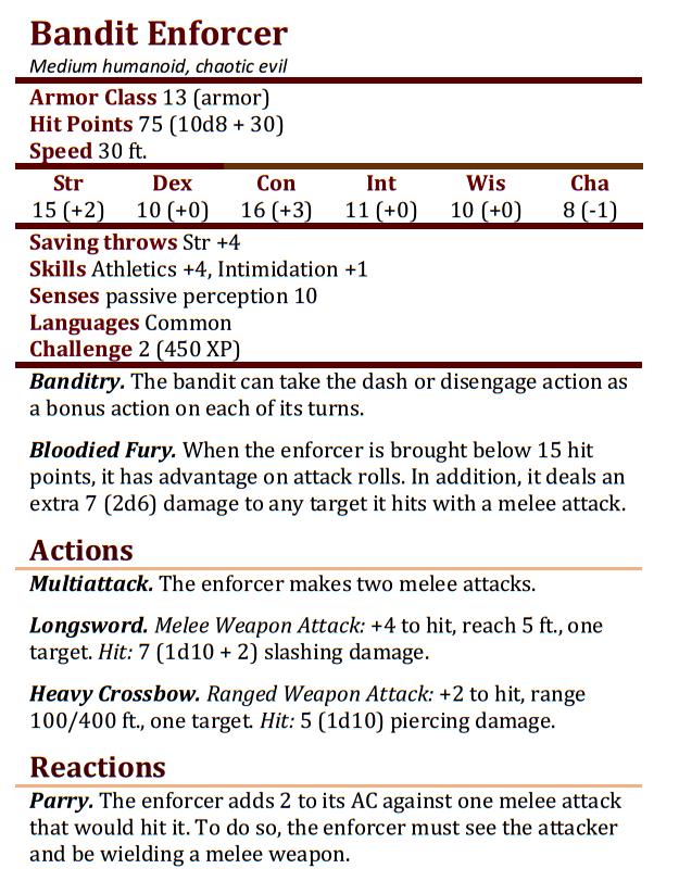 Bandit Enforcer