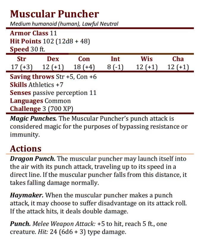 Muscular Puncher