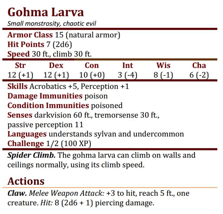 Gohma Larva